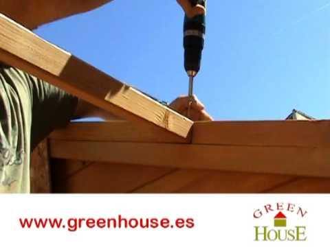 Cobertizo de madera turia youtube for Cobertizo de madera tratada