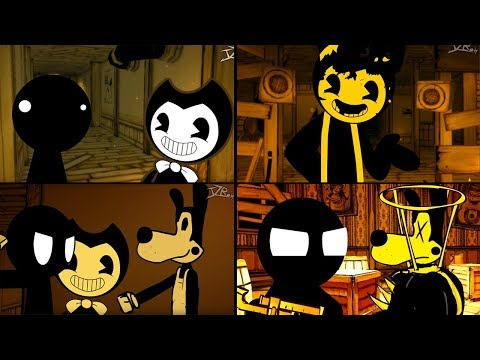 BENDY AND THE INK MACHINE CHAPTER 1-4 IN A NUTSHELL (Stickman vs BATIM Animation)