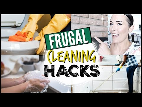 💰ULTIMATE FRUGAL LIVING TIPS + HACKS ● FRUGAL CLEANING TIPS + SUPPLIES ● DIY CLEANING PRODUCTS