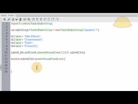Flash AS3 Radio Button Component Tutorial: Forms and Quiz