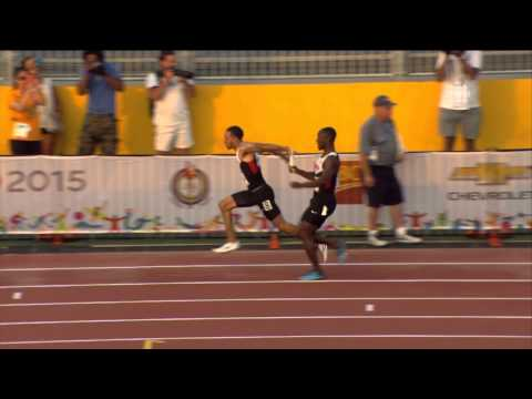 TORONTO 2015 Pan Am Games - Men's 4x100m Relay FINAL - Canada, Antigua & Barbuda DISQUALIFIED HD