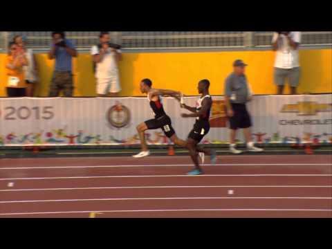 TORONTO 2015 Pan Am Games - Men's 4x100m Relay FINAL - Canada, Antigua & Barbuda DISQUALIFIED HD