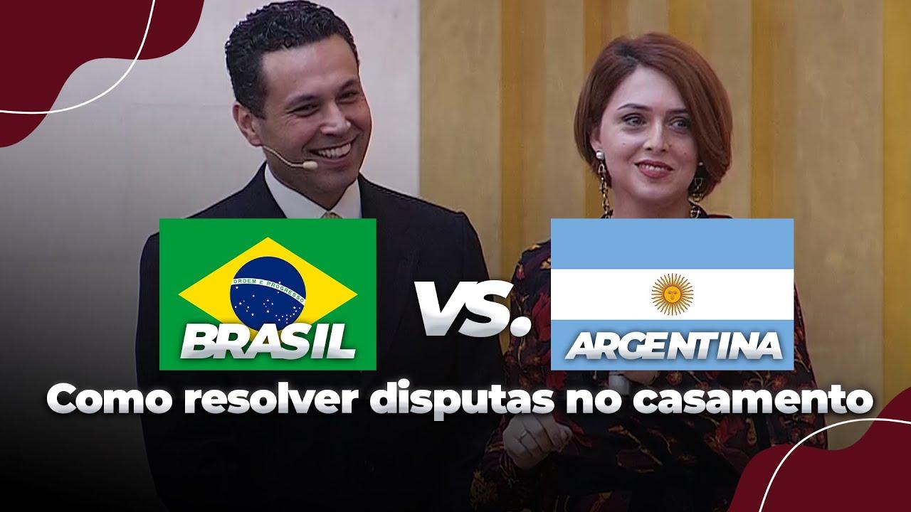 BRASIL 🇧🇷  vs. ARGENTINA 🇦🇷  SEM JUIZ! 😱  (E como resolver disputas no casamento)