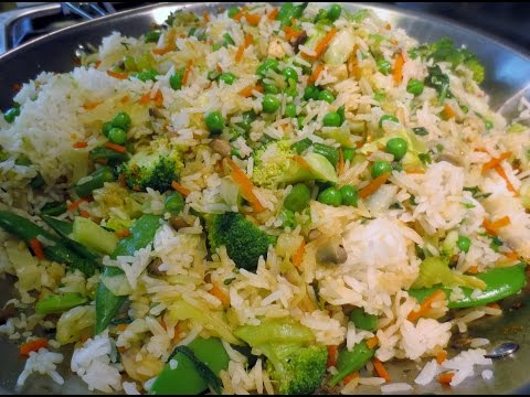 Low Fat Vegan No Oil Asian Vegetable Fried Rice