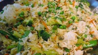 Low Fat Vegan No Oil Asian Vegetable Fried Rice