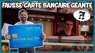 Payer avec une fausse carte bancaire géante - Défi Prank - Les Inachevés