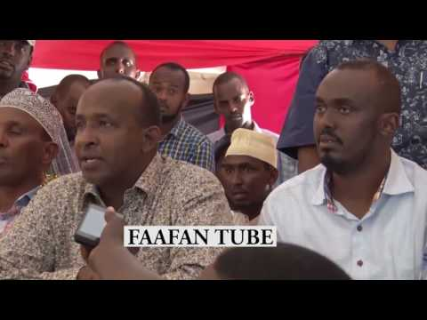 BREAKING NEWS:HON.ADEN DUAEL SPOKE TO THE MEDIA AFTER HE WIN GARISSA MP THIRD TIMES