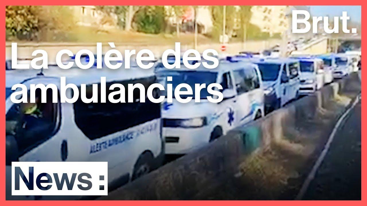 La colère des ambulanciers bloque le périphérique de Paris