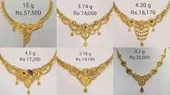Latest Gold Necklace Designs with WEIGHT & PRICE