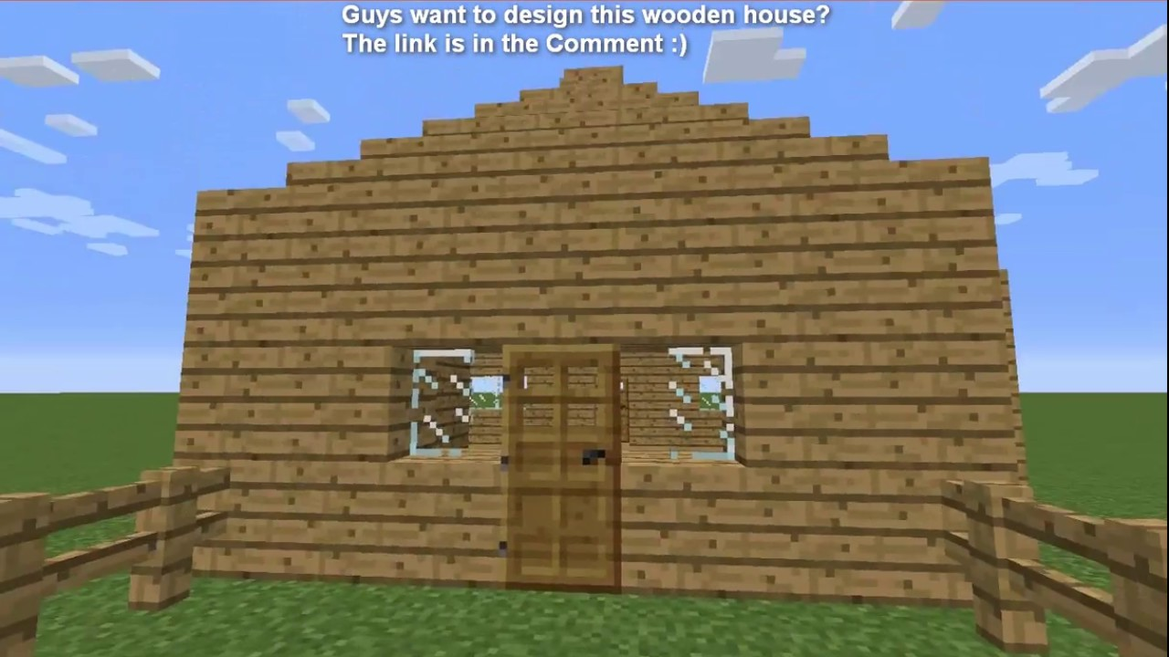 How To Build A Small Wooden House In Minecraft (My Example House!)