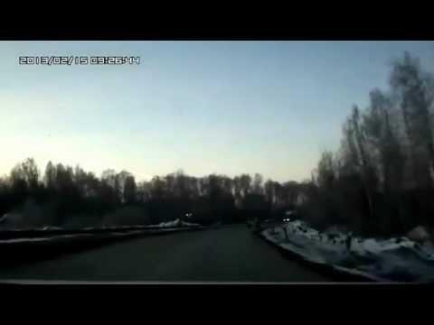 Meteorite Falls In Russian Urals Chelyabinsk region /HIDDEN SHOTS/