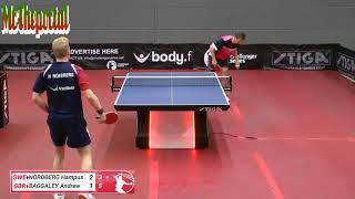 Table Tennis Challenger Series 2018 - Hampus Nordberg Vs Andrew Baggaley -