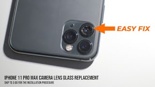 iPhone Camera Glass Lens Replacement Procedure   EASY FIX
