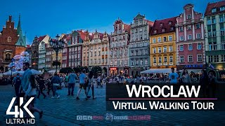 【4K 60fps】VIRTUAL WALKING TOUR 🚶 «Wroclaw - Poland 2021» 🎧 Binaural Sounds 📺 Ultra HD (2160p TV)