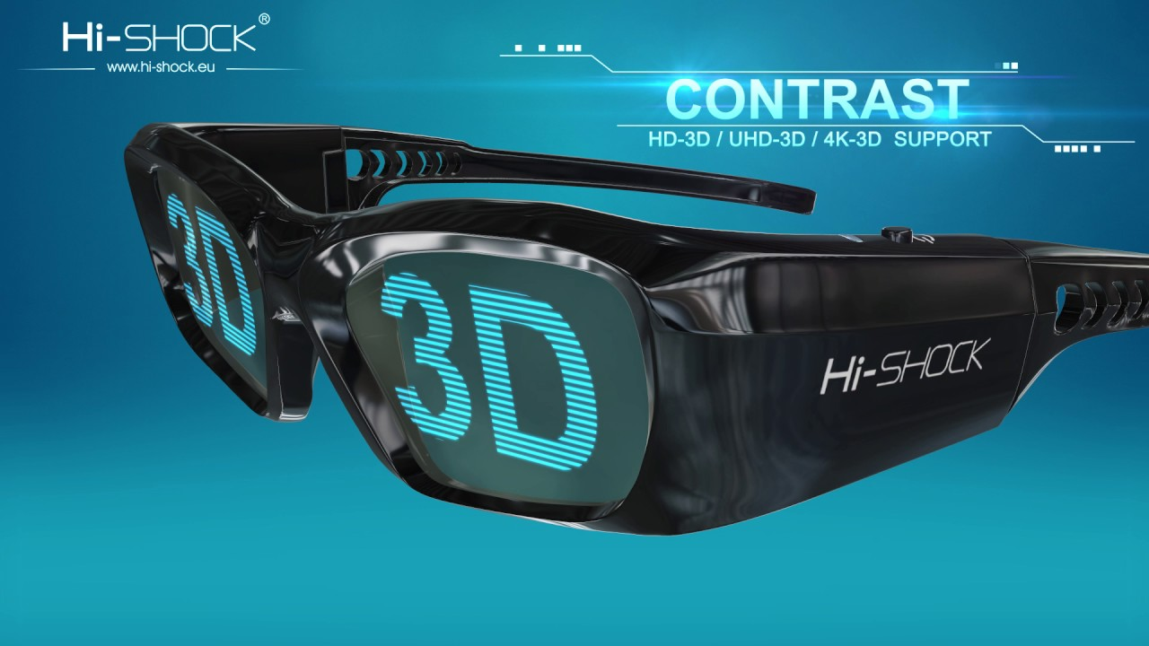 Hi Shock 3d Glasses For Home Theater Tv Projector Full Hd Trailer Youtube