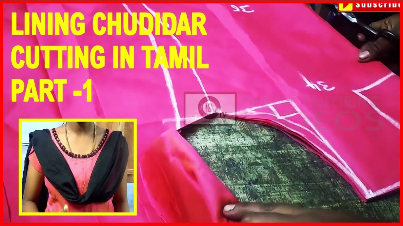 how to stitch churidar in tamil video