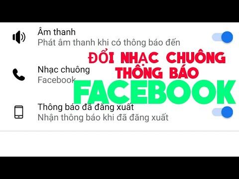 Cách đổi nhạc chuông thông báo, chuông tin nhắn facebook messenger