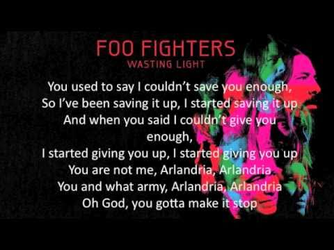 Foo Fighters - Arlandria (lyrics, HQ) - YouTube