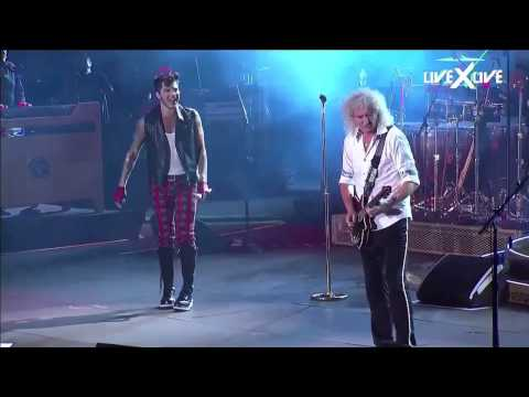 I Want It All & Radio GaGa Rock in Rio HD Queen Adam Lambert