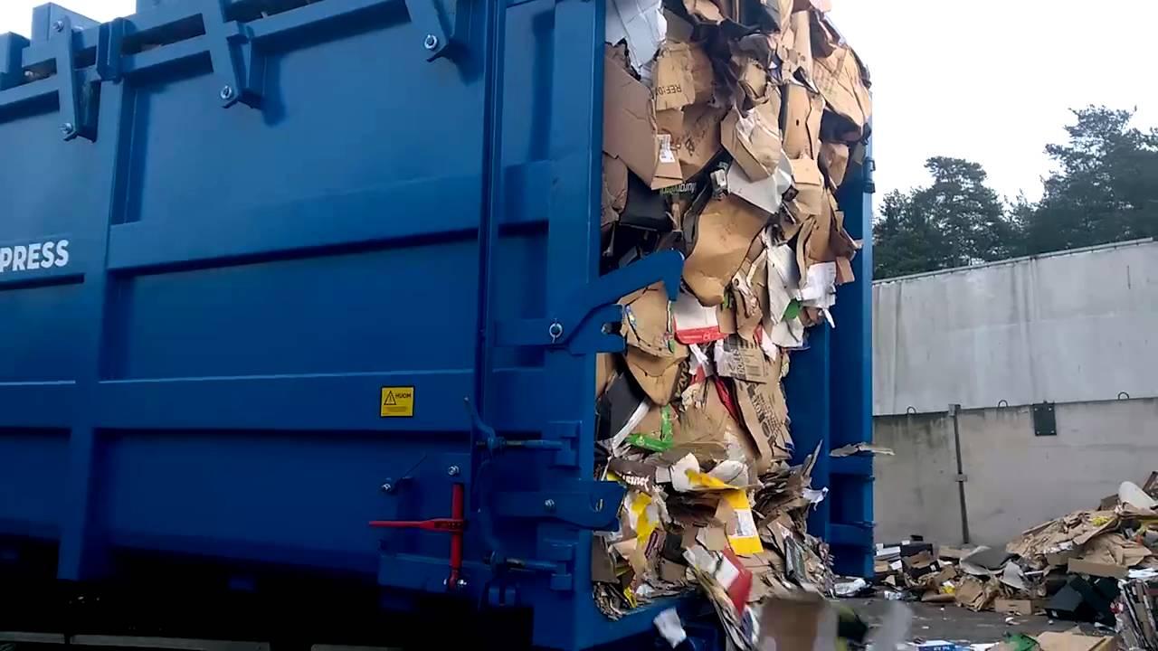 Combimega Fr Waste Compactor Emptying Youtube