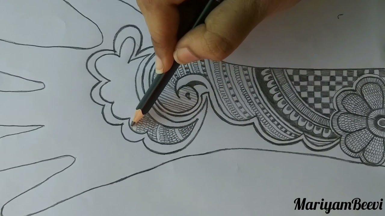 mehndi design simple drawing