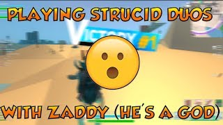 Strucid battle royale duos with Zaddy... (roblox)