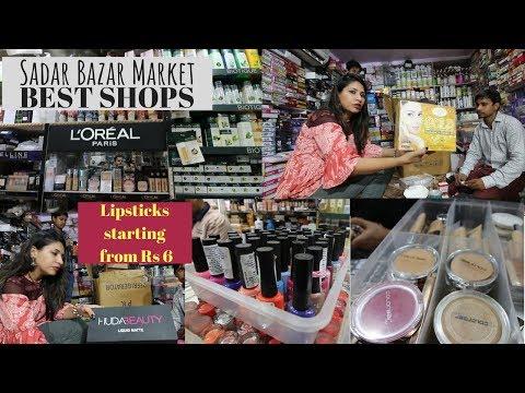 Sadar Bazar Delhi   Wholesale Branded Cosmetic  OMG Lipsticks starting at Rs 6   Shopping in Delhi