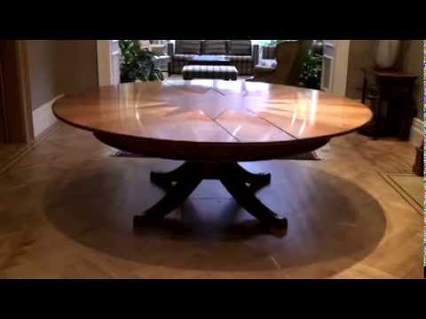expandable round dining table youtube. Black Bedroom Furniture Sets. Home Design Ideas
