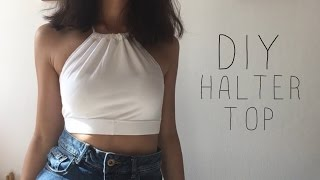 DIY HALTER TOP- Trasforma un paio di leggins   Holographic Line