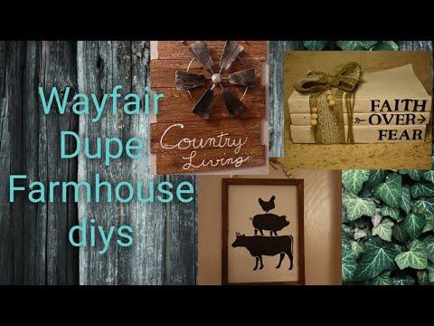 FARMHOUSE DIY'S | Dollar Tree |  Wayfair Dupe | And ME!