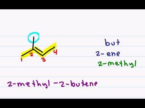 Naming Alkenes - Nomenclature Tutorial for Double Bound Organic Compounds