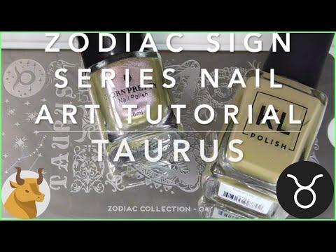 Nail Art Tutorial | Zodiac Signs Series | Taurus Stamping Manicure | KL Polish, MoYou London ✓ thumbnail