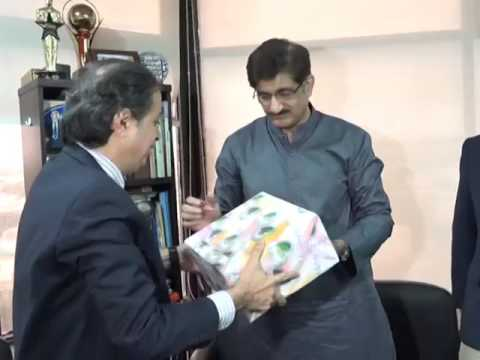 Sindh Chief Minister Syed Murad Ali Shah visits Radio FM 105 today.