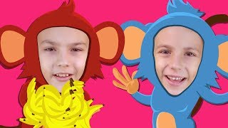 Monkey Banana | Animal Songs for Children