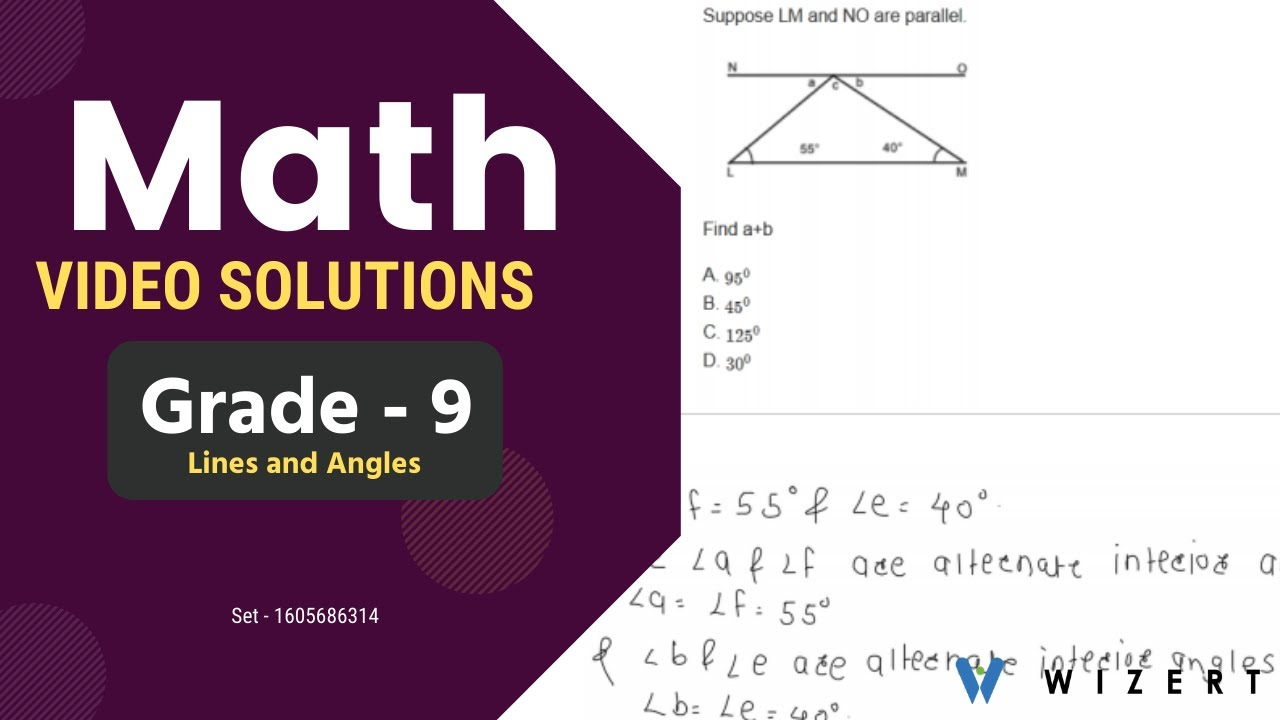 small resolution of Grade 9 Mathematics Worksheets - Lines And Angles worksheet pdfs for Grade 9  - Set 1605686314 - YouTube