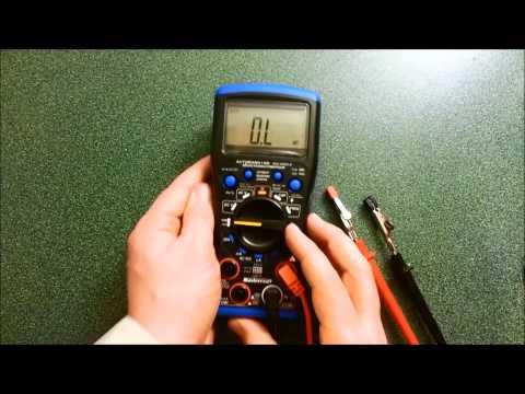 Mastercraft Multimeter Review YouTube