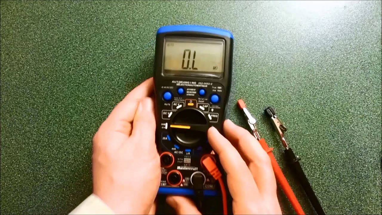 mastercraft multimeter review youtube rh youtube com Cen-Tech Multimeter User Manual Multimeter Cen-Tech 95652 Manual Instruction