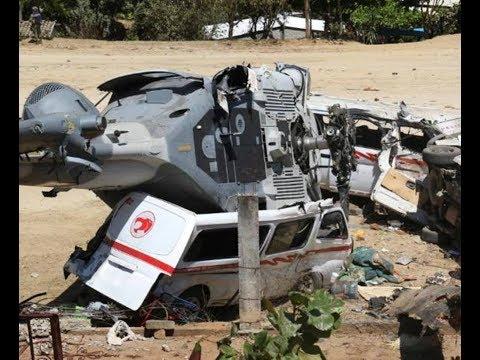 Caída de helicóptero en Oaxaca