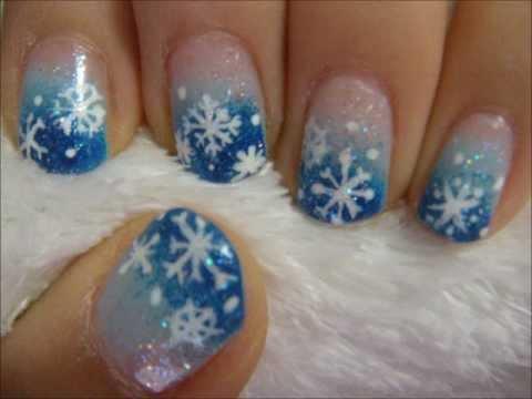 winter snowflake nail tutorial youtube. Black Bedroom Furniture Sets. Home Design Ideas