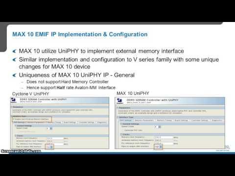 MAX 10 External Memory Interface implementation and debug