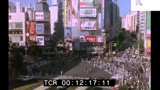 1980s Tokyo, Japan - Traffic, Busy Streets, Shibuya Crossing, Rare 35mm Footage