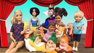 Barbie ve Ailesi Bölüm 138 - Pamuk Prenses Tiyatro Oyunu - Çizgi film tadında Barbie oyunları