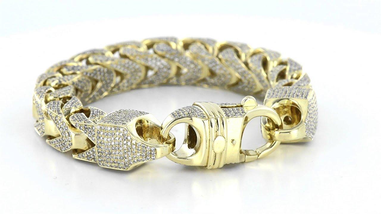 Mens Designer 10k Solid Gold 30CT Real Diamonds Icedout Custom ...