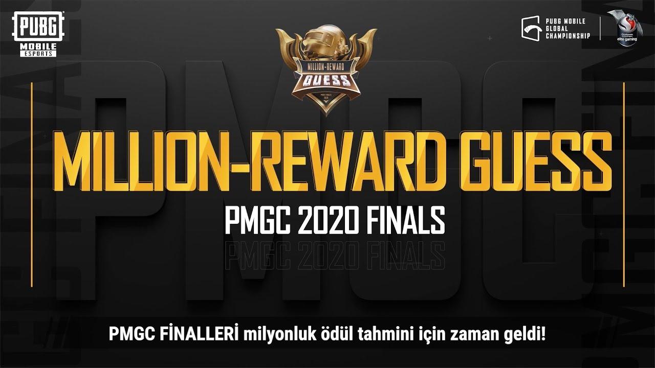 PMGC Finalleri Milyon Ödüllü Tahmin Yarışması