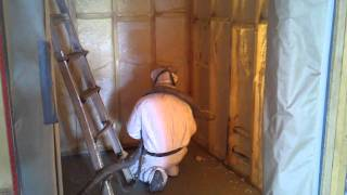 Spray Foam Insulation - Wine Room