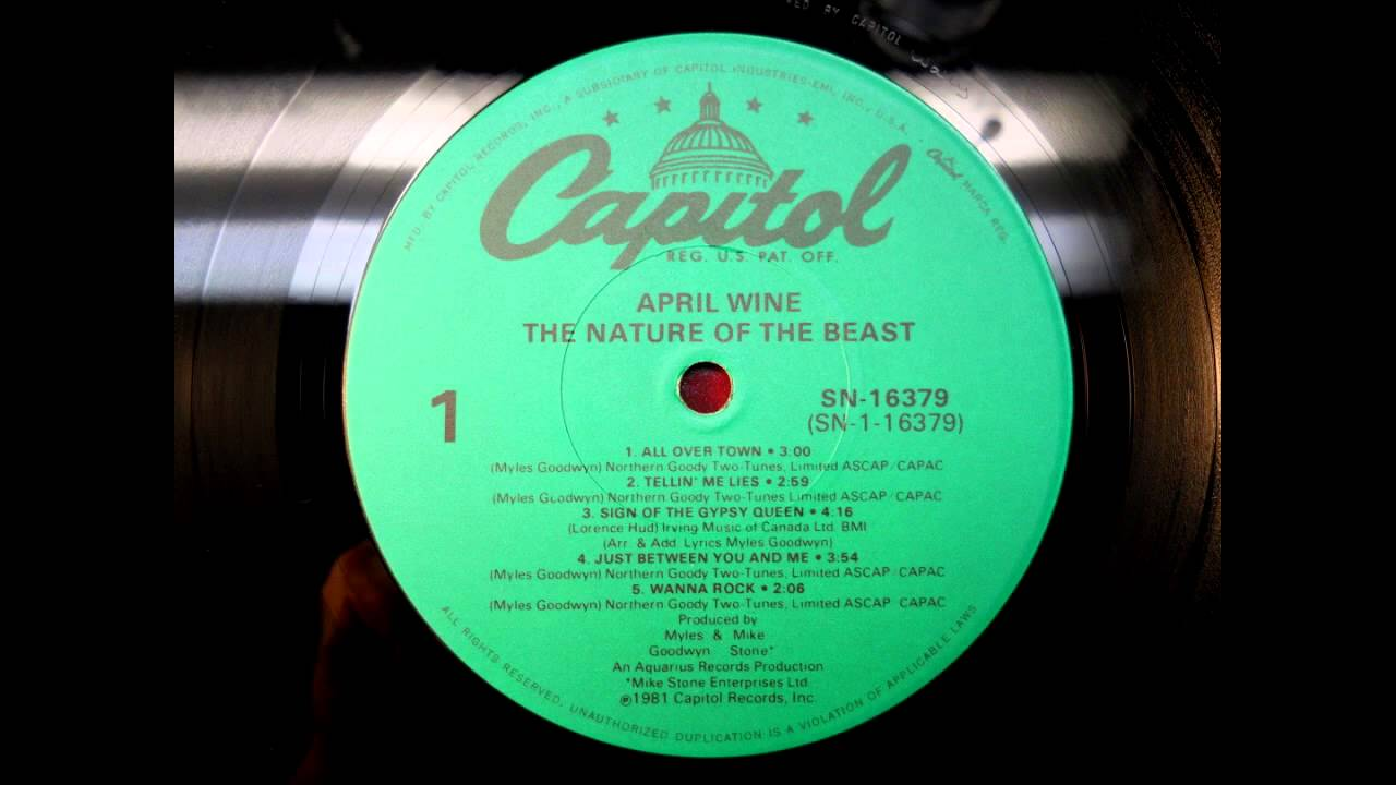April Wine All Over Town 1981 The Nature Of The Beast