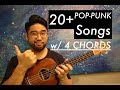 20+ Pop Punk Songs with ONLY 4 Chords Ukulele for Beginners