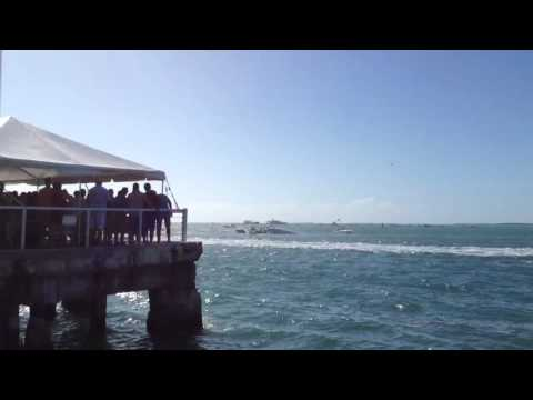 Powerboat crash rescue attempt - Key West
