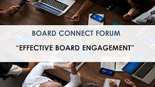 Centre for Non-Profit Leadership - Board Chair Forum: Effective Board Engagment