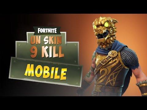 FORTNITE MOBILE - UN SKIN 9 KILL !
